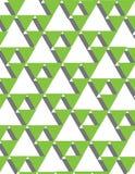 Triângulos verdes Fotografia de Stock