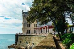 Triëst, Italië - 29 April 2017: Miramarekasteel Royalty-vrije Stock Foto's