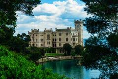 Triëst, Italië - 29 April 2017: Miramarekasteel Royalty-vrije Stock Foto