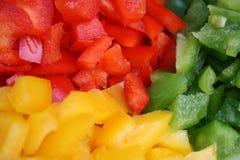 Tri alimento da cor Foto de Stock Royalty Free