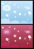 Tri cartão das dobras Fotos de Stock