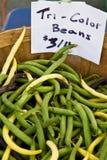 Tri Color Beans for sale Stock Photos