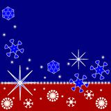 Tri-color Christmas background Stock Image