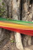 Tri-color fabric in belief. Tri-color fabric belief in buddhism Stock Photo