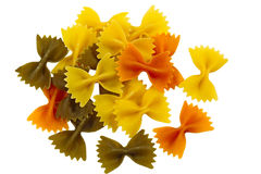 Tri Color Farfalle Stock Photos