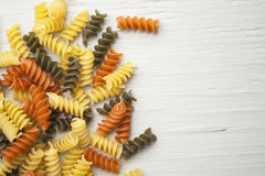 Tri-Color Pasta Royalty Free Stock Photos