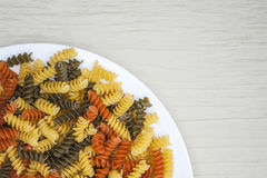 Tri-Color Pasta Royalty Free Stock Image