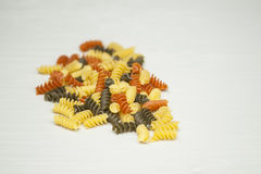 Tri-Color Pasta Stock Photography