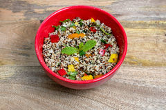 Tri-color quinoa cooked Stock Photo