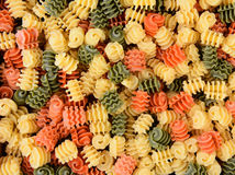 Tri-Color Radiatore Pasta Closeup Royalty Free Stock Photography