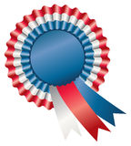 Tri-Color Rosette Ribbon Royalty Free Stock Photo