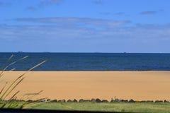 Tri-color Strand-Szene Stockfoto