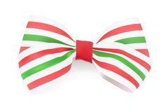 Tri-color Striped bow. Royalty Free Stock Photo