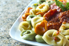 Tri-Color Tortellini Stock Images