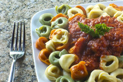 Tri-Color Tortellini Stock Image