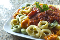 Tri-Color Tortellini Royalty Free Stock Image