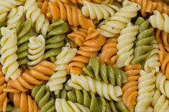 Tri Colored Pasta Royalty Free Stock Photography