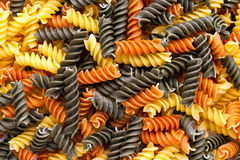 Tri Colored Pasta Pile Stock Photos