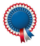 Tri-colored rosette Royalty Free Stock Photo