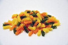Tri colored rotini pasta Stock Photos