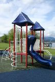 Tri-Coloured Playground Royalty Free Stock Images