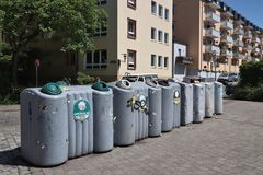 Tri de déchets de ménage photo stock