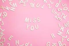 Tri de MLLE YOU de lettres sur le rose Image stock