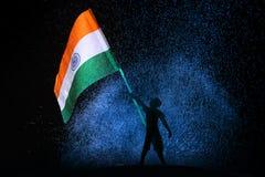 Tri drapeau d'Indien de couleur image stock