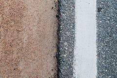 Tri färgväg Arkivfoto