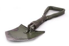 Tri-fold army shovel Stock Photo