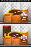 Tri Fold Bakery Store Brochure Template  Royalty Free Stock Photography