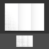 Tri fold binary illustration design Royalty Free Stock Images