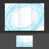 Tri fold blue circles illustration design Stock Photography