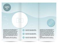 Tri fold brochu template Stock Photos