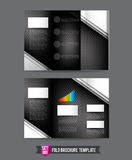 Tri Fold Brochure background template 0009 Technology concept - Royalty Free Stock Images