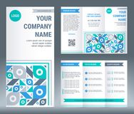 Tri-fold brochure corporate business template design. Stock Image