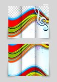 Tri-fold brochure design Stock Photography