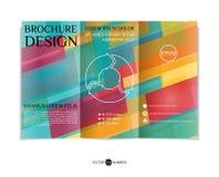 Tri-fold brochure design. Stock Photography