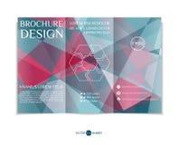 Tri-fold brochure design. Stock Image