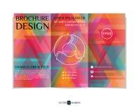 Tri-fold brochure design Royalty Free Stock Photography