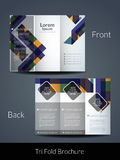 Tri Fold brochure design template. Royalty Free Stock Photography
