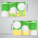 Tri-fold brochure design. Brochure template design  with yellow and green Stock Image