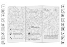 Tri-Fold Brochure mock up  design Royalty Free Stock Photos
