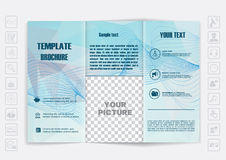 Tri-Fold Brochure mock up  design. Polygonal background background. Royalty Free Stock Photography