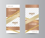 Tri-fold brochure template Royalty Free Stock Images