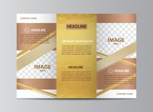 Tri-fold brochure template Royalty Free Stock Photos