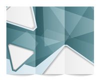 Tri-fold brochure template Stock Image