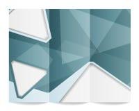 Tri-fold brochure template Stock Image