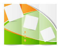 Tri-fold brochure template Royalty Free Stock Photography