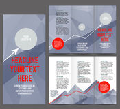 Tri Fold Brochure Vector Design. Stock Photos